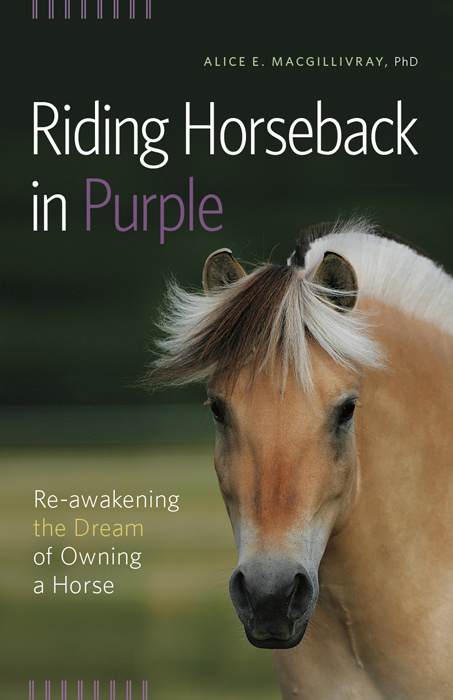 Riding Horseback in Purple book